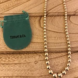 Tiffany and co. Graduated sterling silver beads